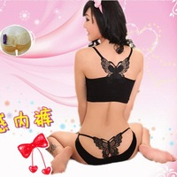 2013 New Women Lace Sport Bra Set + T Back Sexy Lady's Underwear U shape Vest Fashion