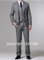 Free shipping/Top sell custom made cheap new style dark gray wedding groom wear tuxedos/bridegroom,groomsmen dress/men's suits