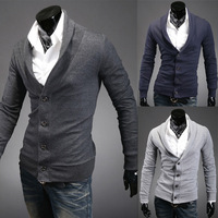 2013Free shipping High-grade sheep plush Slim wild-button placket axilla spell color cardigan