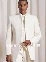 Free shipping/custom Best selling Ivory Groom Tuxedos Wedding Groomsmen Men's wear Suits Best man bridegroom dress Prom Clothing