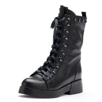 Free Shipping 2013 New Arrival Redopin Black Spring& Autumn & Winter Women Sexy Boots Lady Martin Boots Shoes