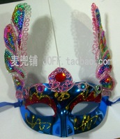 Free shipping Peacock wool paillette lace mask halloween mask masquerade masks halloween supplies