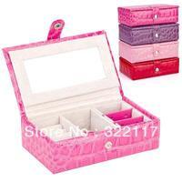 crocdile design PU jewelry box,easily carring jewelry box