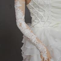 New Gorgeous sexy white lace fingerless gauze wedding gloves/Bridal gloves