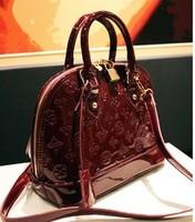 2013 women's handbag black japanned leather embossed handbag shoulder bag women's handbag