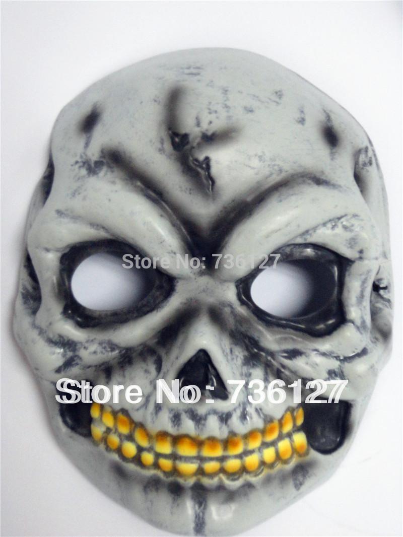 Cinza monstro diabo Horrible crânio Zombie máscara máscara fantasma Make engraçado para o carnaval de Halloween e outros adereços Masquerade partido(China (Mainland))