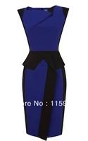 Free shipping Fashion 2013 women's elegant  decoration slim sleeveless one-piece dress +gift