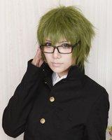 Kuroko no Basuke Midorima Shintaro Army Green Short Anime Costume Cosplay Wig