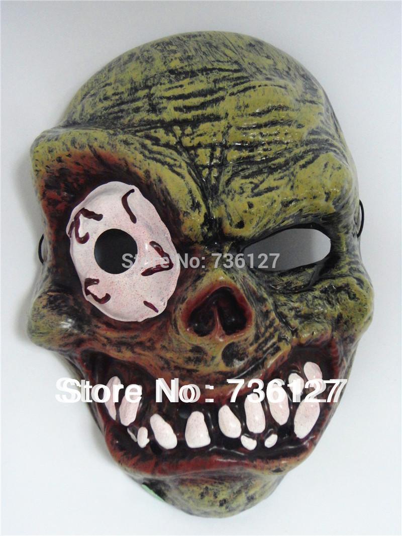 Monstro diabo Horrible máscara Zombie Cyclap crânio Make engraçado para o carnaval de Halloween e outros adereços Masquerade partido(China (Mainland))