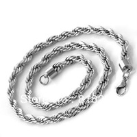 50cm 55cm Free Shipping 316L Fashion stainless steel men Silver Hemp flowers Necklace Wholesale