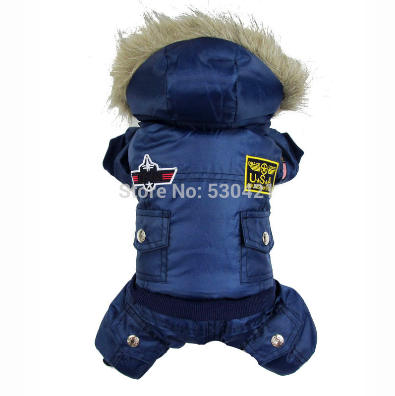 3Colors New arrival Soft and warm USA thickening air force clothing Dog Pet Coat(China (Mainland))