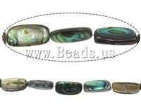 Free shipping!!!Abalone Shell Beads,2013 fashion women, Rectangle, 14-16x7.5x5mm, Hole:Approx 1mm, Length:16 Inch, 26PCs/Strand