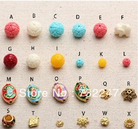 Coral / ivory fruit gilt ball grid exclusive handmade beaded bead jewelry wholesale beading supplies 200pcs/lot