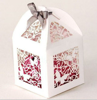 Free Shipping Wedding Favor Box Laser Cut Paper Boxes for Candy Small Chocolate Gift Box Party Supplies Drop Shipping 100pcs/lot