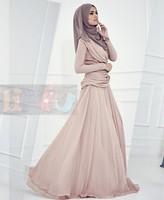 2014 spring fashion muslim islamic clothing for women dubai long dress chiffon maxi muslim dress mopping the floor plus size