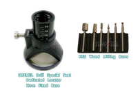 DREMEL MultiPro electric Drill's Special seat Dedicated Locator Horn Fixed Base 6pcs HSS Wood Milling Burrs Cutter Set