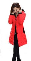 2013 Winter Slim Medium-Long Down Cotton-Padded Jacket Women's Zipper Outerwear Wadded Coat