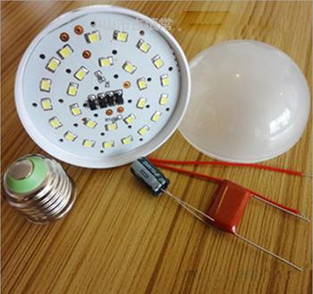 6PCS DIY high brightness E27 7W LED Bulb Shell Kit / Led Lighting Accessories