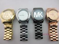 Free Shipping brand Watch Rose Gold For Women Black Men Fashion Diamond Wristwatch Janpan Quartz 4Colors