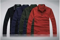 Freeshipping,Hot Selling,2013 New Fashion turn down collar Long Sleeve T Shirts Men.Causal Classic Male Tee. 68