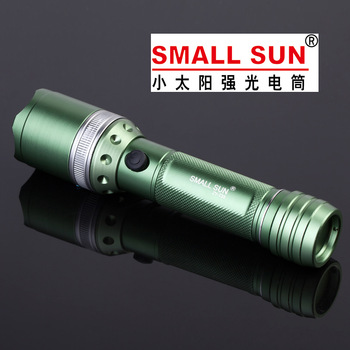 Sun tactical flashlight bicycle light led charge flashlight zoom outdoor household