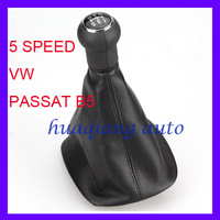 5 Speed gear shift knob gaitor boot for Volkswagen 1996-2005 VW Passat B5 B5.5 Black