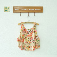 Fashion summer women's lace decoration paragraph ultra-short vest