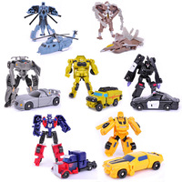 7PCS/LOT Robots Optimus Prime Bumblebee Sideswipe Starscream Action Figure Toy Legends Classic Toys for kids with original box