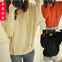 2013 spring and autumn school wear slim all-match loose pullover sweater outerwear female