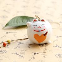 Totoro japanese style lucky cat jingdezhen ceramic wind chimes cat hangings door trim