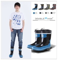 Fashion men knee-high work shoes boots rainboots water shoes rubber shoes rain shoes 6