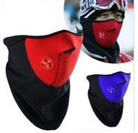 Free Shipping 3pcs/lot  New Neoprene Neck Warm Face Mask Veil Guard Sport Bike Cycling Mask Motorcycle Ski Mask Black Red Blue