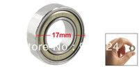 17mm x 9mm x 5mm Metal Sealed Deep Groove Roller Bearings