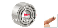 Silver Tone Metal 8mm x 3mm x 3.5mm Shield Ball Bearing