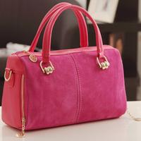 2014 women's handbag buddhistan red patchwork nubuck leather fashion vintage bag one shoulder bag handbag
