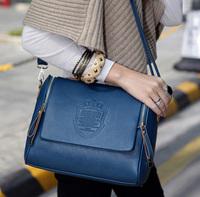 Color block 2014 british style vintage messenger bag shoulder bag handbag cross-body bags female