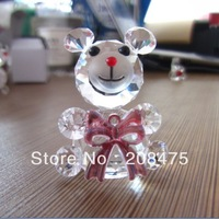 mini crystal glass bear models,glass bear figurines,small crystal bear for gifts