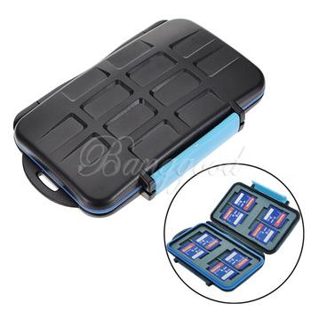 Mc-2 анти-шок водонепроницаемый DC карты памяти чехол держатель жесткого хранения коробка для 4CF 8SD ABS и резиновые