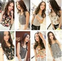 S-XXXL 2014 New Fashion Summer Women's Clothes Chiffon Shirts short Sleeve Causal Chiffon Blouse Tops Plus Size Women Clothing