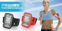 For Apple iPhone 5 5G 4G 4GS Soft Arm Belt Holder Armband Jogging Running Cell Phone Carrying Wateproof Case  Free Shipping