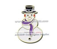 Free Shipping Best Selling High Quality General Cancer Awareness Christmas Snowman Lavender Ribbon Lapel Pins