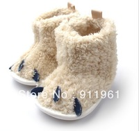 baby girls coral fleece winter snow booties,infant baby antislip warm shoes,girls leopard first walker.3-18M