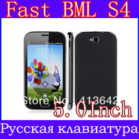 Russian menu EU charger BML S4  i9500 9082 Android Phone 5 inch SC6820 1GHz 256MB RAM WiFi Bluetooth  Smart phones freeshipping