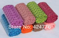 Eco-friendly fresh silica gel yoga blanket slip-resistant yoga mat yoga towel yoga mat towel size: 183X61MM