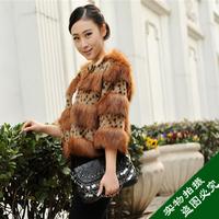 2013 slim fur overcoat patchwork fur coat short design faux women's faux fur wool overcoat