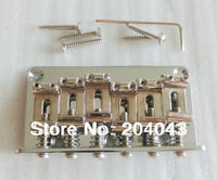 Sell Free Shipping Chrome guitar bridge 6 strings fixed guitar bridge Steel saddle Electric guitar bridge