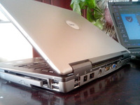 "15"" From intel duo core cpu built in webcam D e l l D520 original second used Laptop,  512MB 60g hdd"