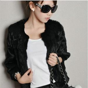 Fur coat mink fur hair short design faux fur outerwear women's female fur(China (Mainland))
