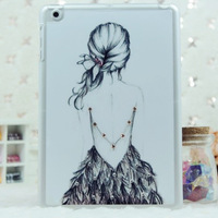 3d strass rhinestone diamond plastic cute cartoon back hard cover for ipad mini fashion