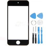 Free Shipping New LCD Front Screen Glass Lens + Free Tools for Apple ipod Phone 5 5th 5G Black